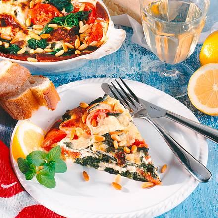 Spinat-Tomaten-Quark-Auflauf Rezept