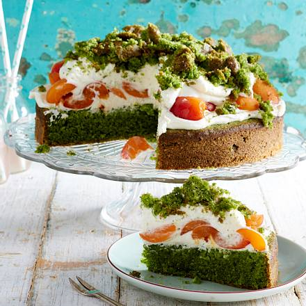 Spinat-Torte mit Aprikosen Rezept