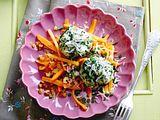 Spinatknödel mit Karotten-Vanille-Walnussgemüse und brauner Butter Rezept