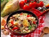 Spitzkohl-Pilz-Pfanne mit Tomaten Rezept
