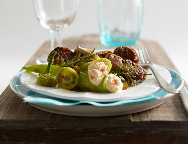 Spitzpaprika mit Chiliquark zu Lammkoteletts Rezept
