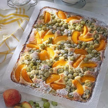 Stachelbeer-Aprikosen-Kuchen Rezept