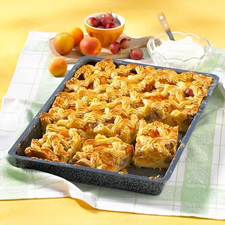 Stachelbeer-Aprikosen-Kuchen vom Blech Rezept