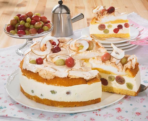 Stachelbeer-Baiser-Torte Rezept