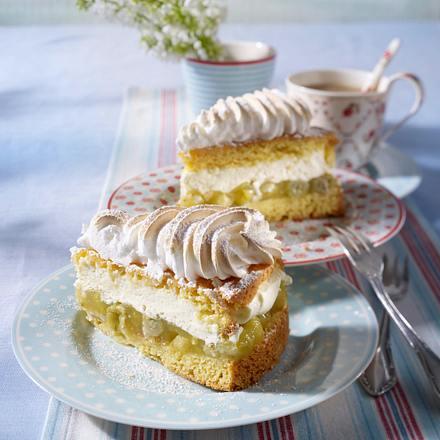 Stachelbeer Baiser Torte Rezept Lecker