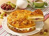 Stachelbeer-Bienenstich-Torte Rezept