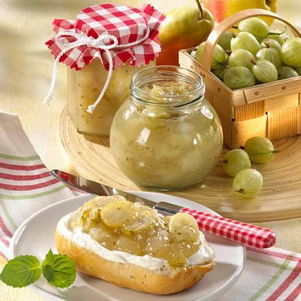 Stachelbeer-Birnenkonfitüre Rezept