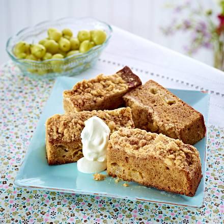 Stachelbeer Crumble-Cake Rezept