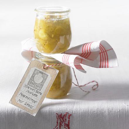 Stachelbeer-Ingwer-Konfitüre Rezept