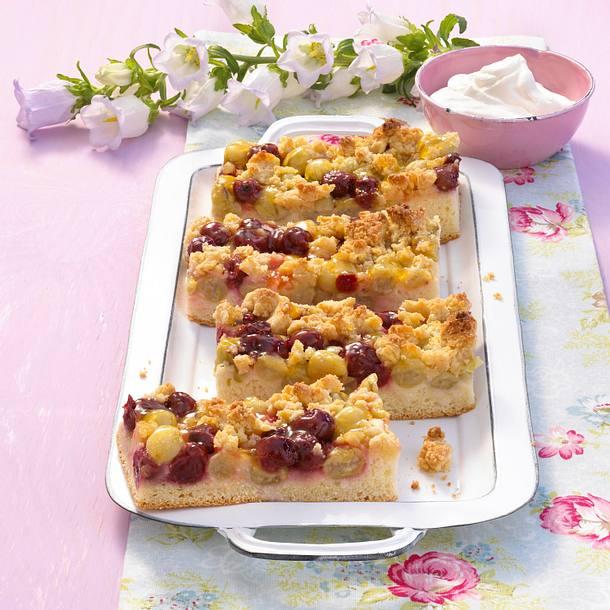 Stachelbeer-Kirschkuchen Rezept