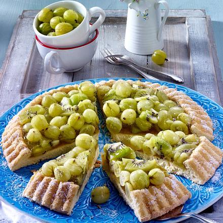 Stachelbeer-Kiwi-Kuchen Rezept
