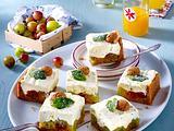 Stachelbeer-Kühlschranktorte mit Frischkäse-Minz-Topping Rezept