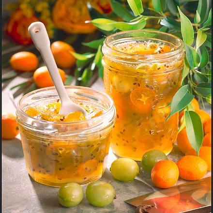 Stachelbeer Kumquats Konfitüre Rezept