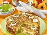 Stachelbeer-Schmand-Torte mit Krokantstreuseln Rezept