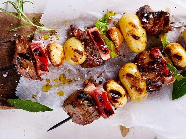 Steak-Kartoffel-Spieße vom Grill Rezept