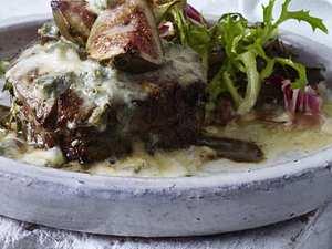 Steak mit Gorgonzolacreme und Feigen Rezept