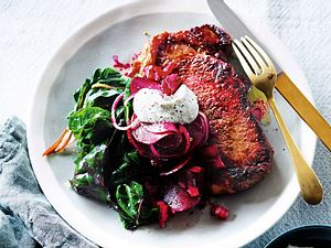 Steak mit Rote-Bete-Pickles Rezept