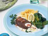 Steak mit Spinat und Meerrettichsoße (Diabetiker) Rezept