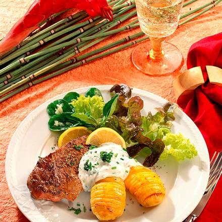 Steak, Quark und Kartoffeln Rezept
