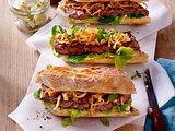 Steak-Sandwich mit gerösteten Zwiebeln Rezept