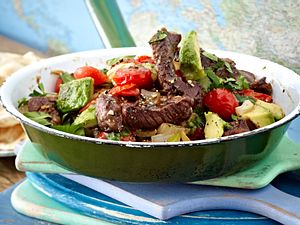 Steakpfanne mit Avocado Rezept