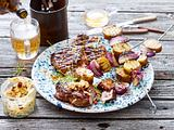 Steckerlkartoffeln mit Zwiebel-Grätsche Rezept