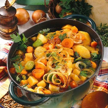 Steckrüben-Topf mit Curry Rezept