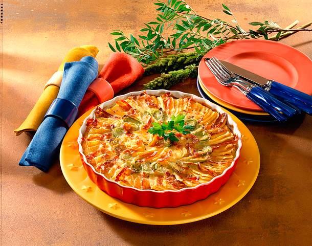 Steckrübengratin mit Speck und Käse Rezept