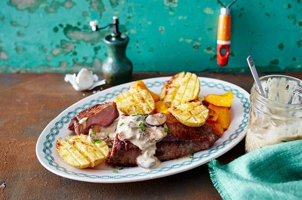 Steinpilzsoße zu Rumpsteak & Kartoffeln Rezept