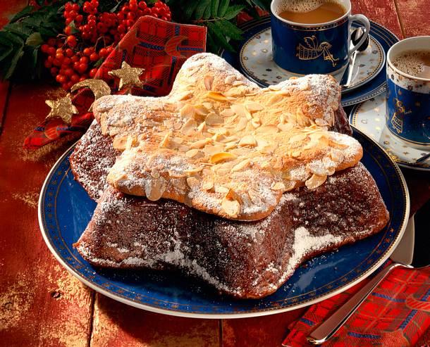 Sternkuchen mit Mandeldecke Rezept