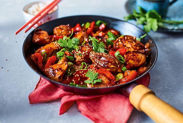 Stir-fry Szechuan-Hähnchen Rezept