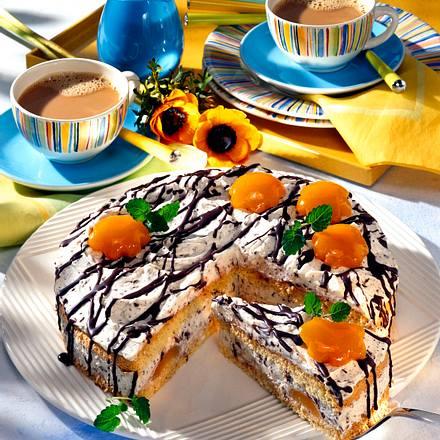 Stracciatella-Torte mit Aprikosen Rezept