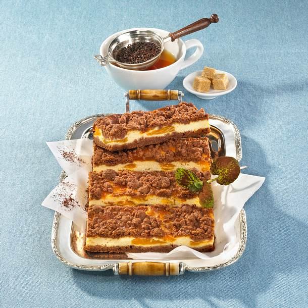 Streusel-Käsekuchen mit Mandarinen Rezept