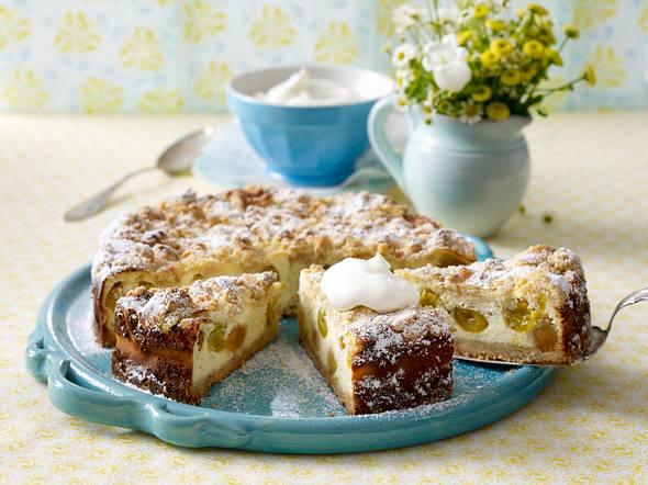 Streusel-Quarkkuchen mit Mirabellen Rezept