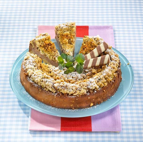 Streuselkuchen mit Nuss-Nougat-Creme Rezept