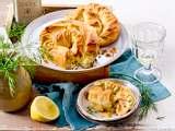 Strudelschnecken mit Lachs und Frischkäse Rezept