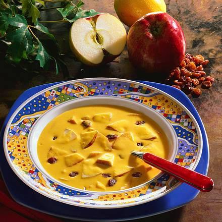 Süß-saure Apfel-Curry Suppe Rezept