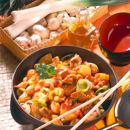 Süß-saure Asiapfanne Rezept