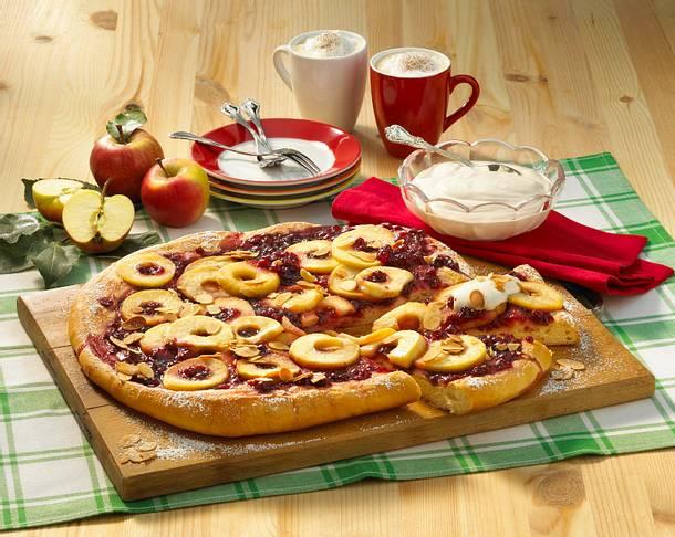 Süße Apfel-Pizza Rezept