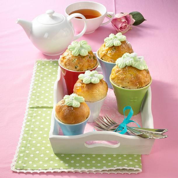 Süße Blumentopfkuchen Rezept