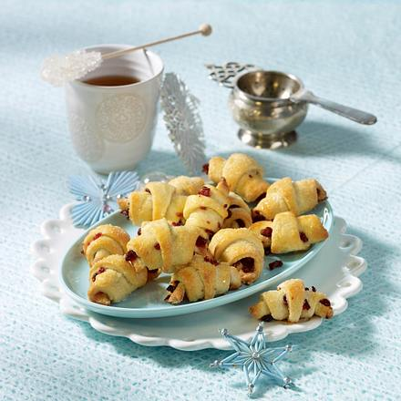 Süße Cranberry-Frischkäse-Hörnchen Rezept