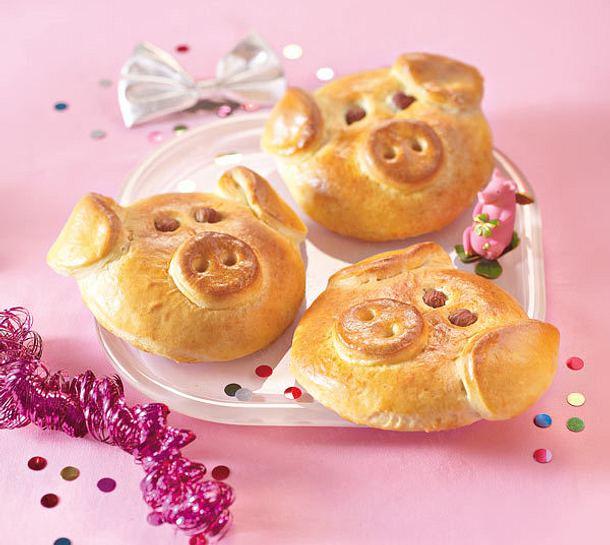 Süße Glücksschweinchen Rezept
