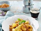 Süße Gnocchi mit Apfelspalten und Zimtbröseln Rezept