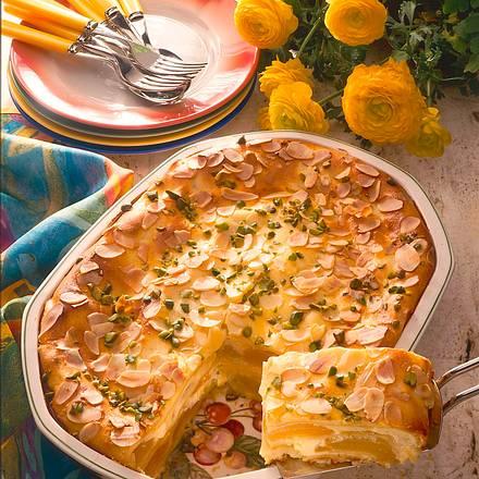 Süße Lasagne mit Aprikosen und Vanillequark Rezept
