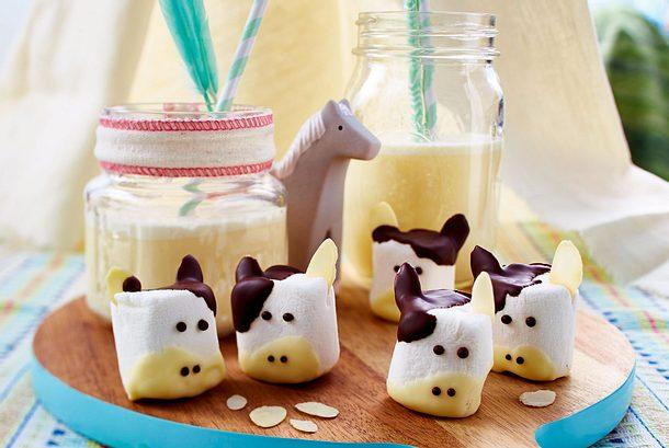 Süße Marshmallowkühe Rezept