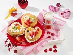 Süße Muttertagsherzen Rezept