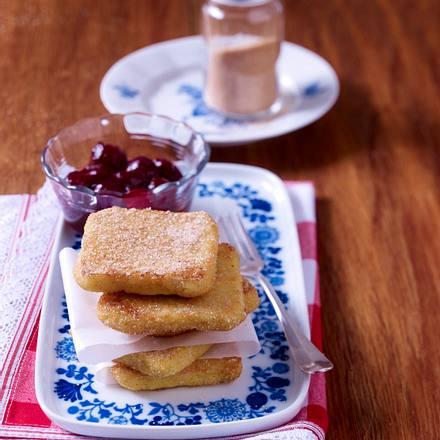 Süße Polentaschnitten mit Zimt Rezept
