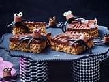 Süße Spinnen auf Nusskuchen mit Schoko Rezept