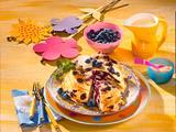 Süßer Pfannkuchen-Turm Rezept