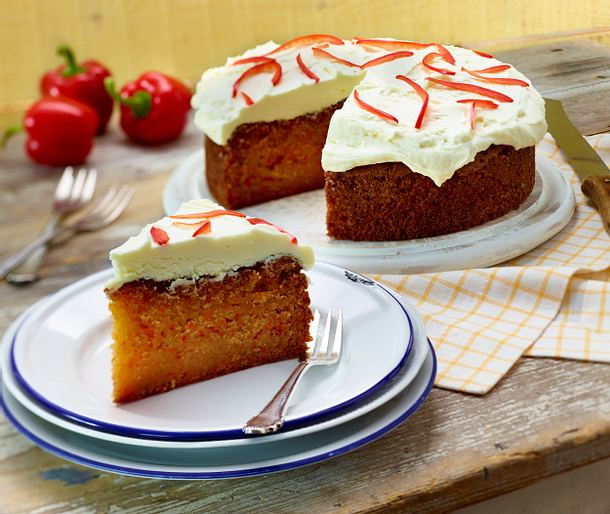 Süßer Rührkuchen mit roter Paprika Rezept